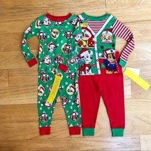 NWT Paw Patrol Christmas Pajamas